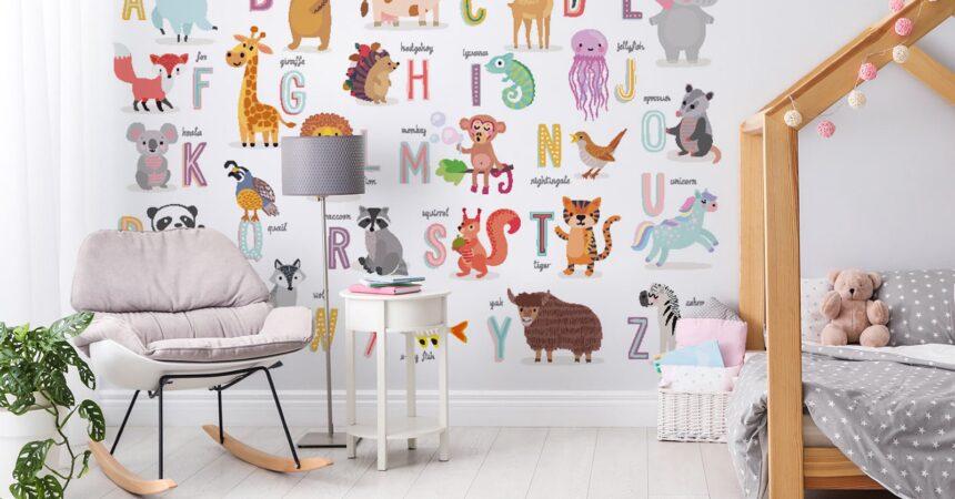 Ozdoby edukacyjne na ścianę do pokoju małego dziecka